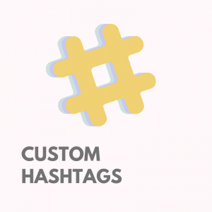 Custom hashtags for Instagram